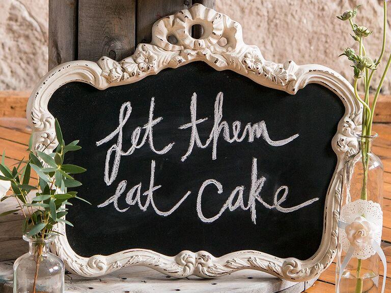 Chalkboard wedding decor
