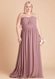Birdy Grey Grace Convertible Dress Curve in Dark Mauve Sweetheart Bridesmaid Dress