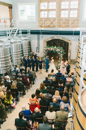 Stone Tower Winery Barrel Room Ceremony