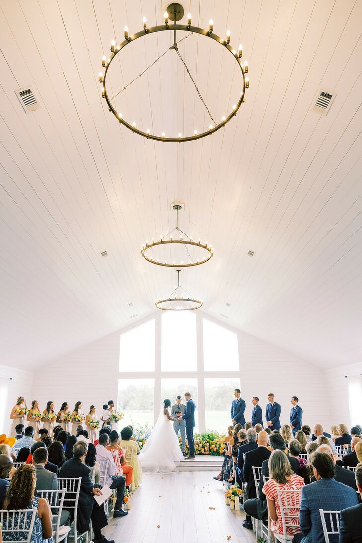 Ceremony at The Farmhouse in Montgomery, Texas