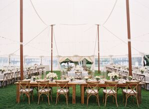 Long Farm Tables and Cross-Back Chairs