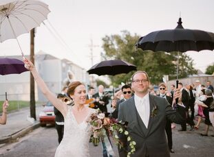 Capturing the spirit of New Orleans was the theme to Beth Nauman (35 and a clinical researcher) and Philip Anglewicz's (41 and a professor) wedding. S