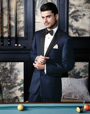 BLACKTIE MILAN Midnight Navy Wedding Tuxedo Blue Tuxedo
