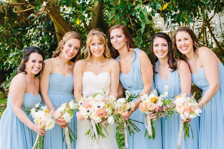 c14462b2f51 Jenny Yoo Convertible Ceil Blue Bridesmaid Dresses. Favorite. Jana and her  three sisters and two best friends all fell in love with the Aidan