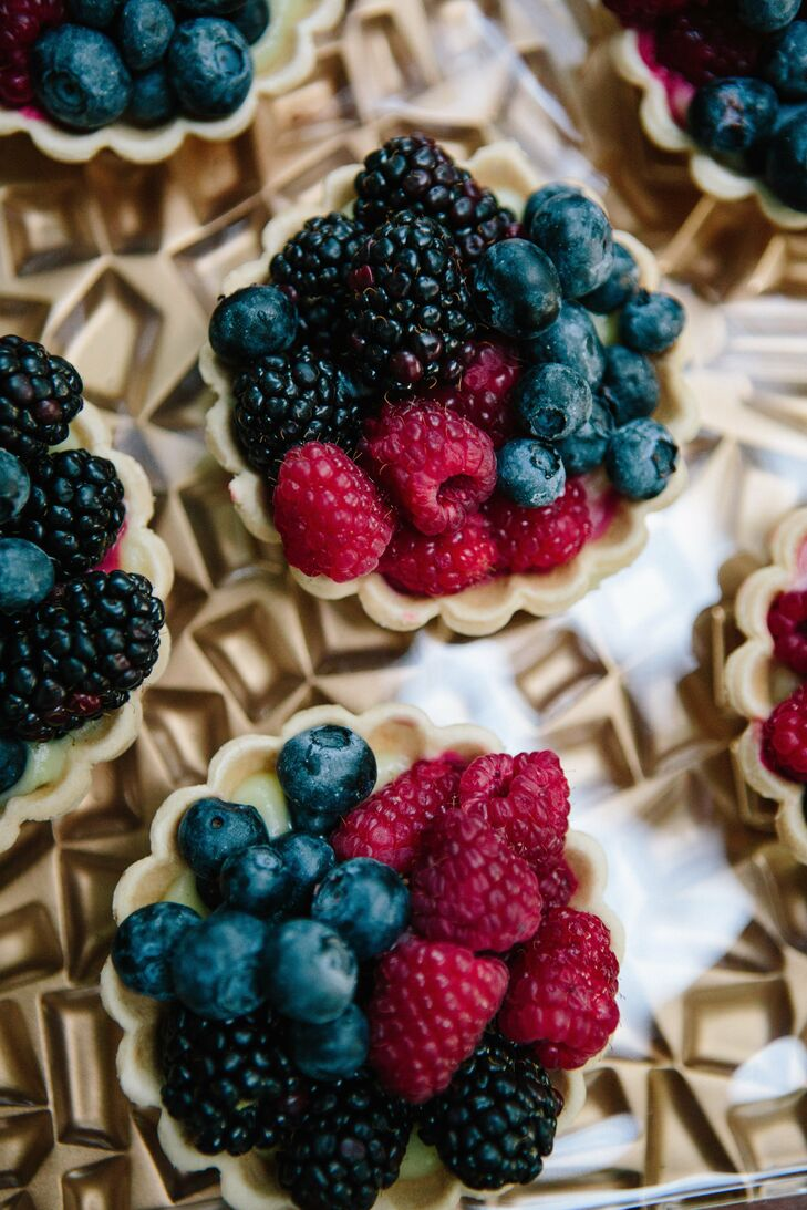 Fresh berry tarts were part of the variety of sweets offered during the reception.