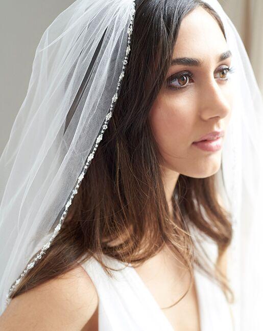 Dareth Colburn Sophia Pearl & Crystal Edge Veil (VB-5081) Ivory Veil