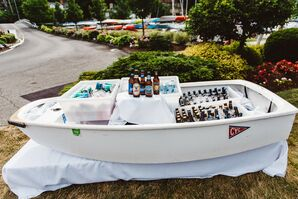 Cocktail Hour Beer Served From Boat