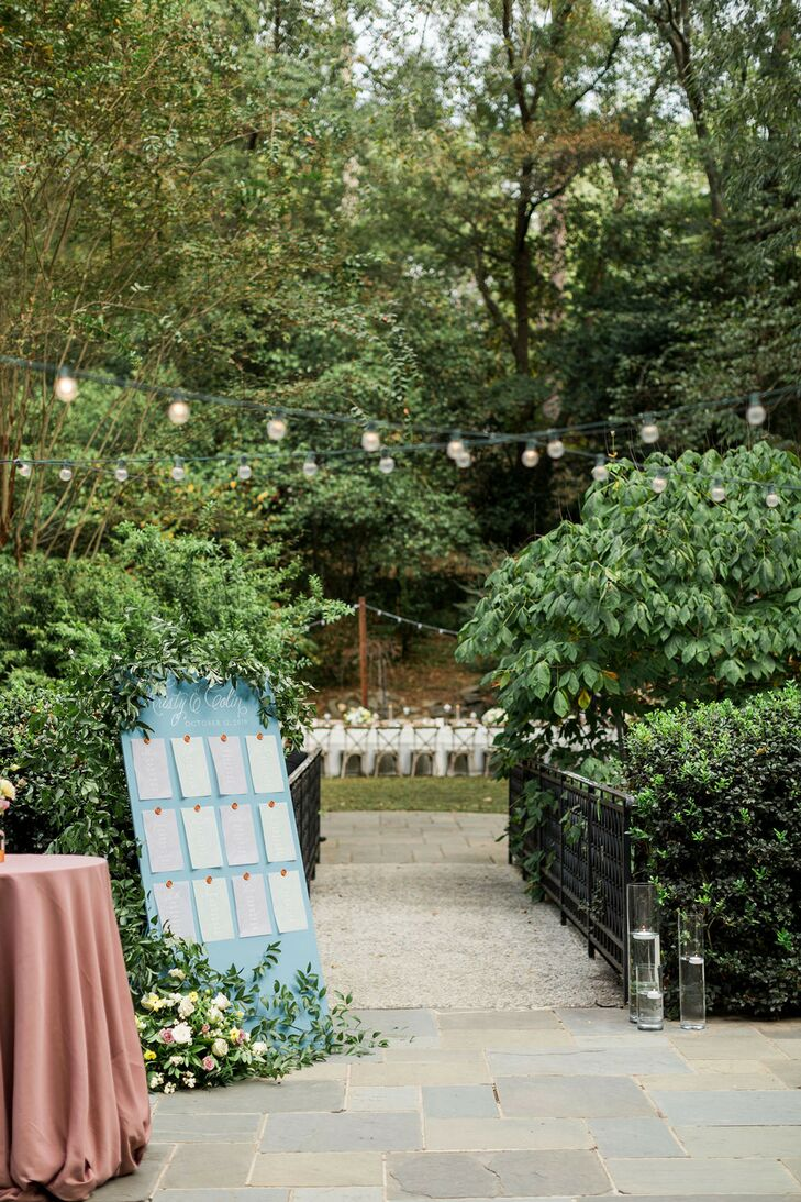 Seating Chart for Wedding at Cator Woolford Gardens in Atlanta