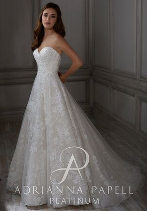 Adrianna Papell Platinum Claire Ball Gown Wedding Dress