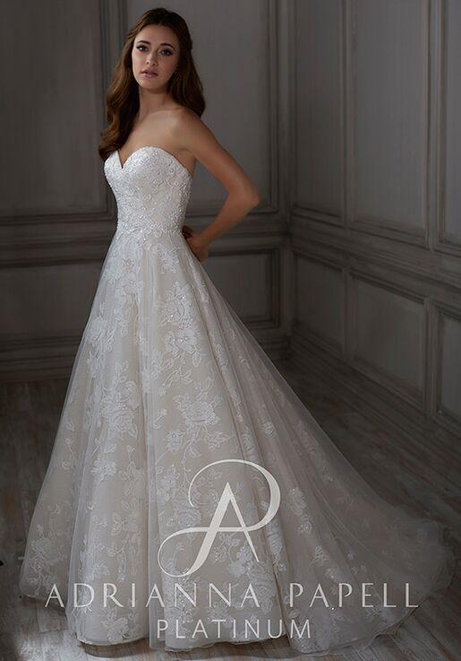 Adrianna Papell Platinum Claire Ball Gown Wedding Dress