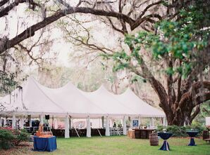 Florida Private Residence White Tented Reception