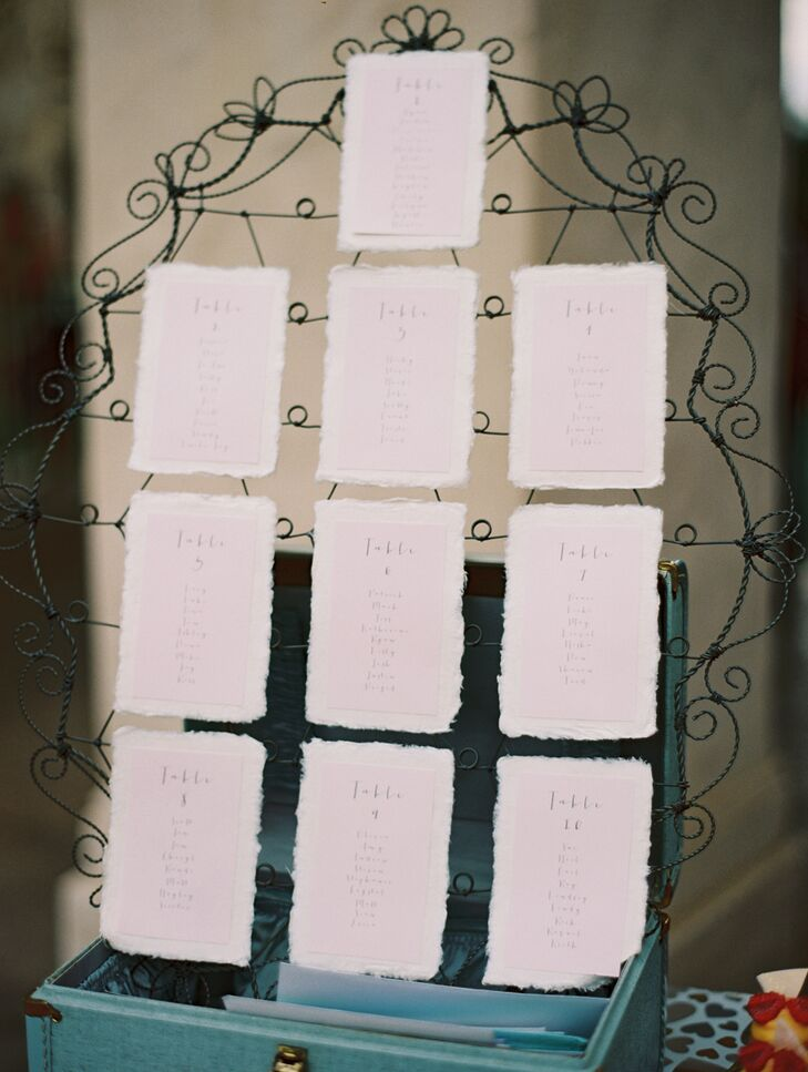 Blush Pink Seating Chart