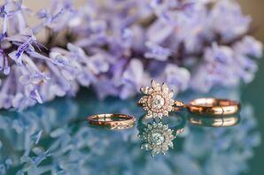 Flower-Inspired Diamond Halo Engagement Ring