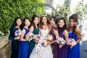 Jewel-Toned Bridesmaid Dresses