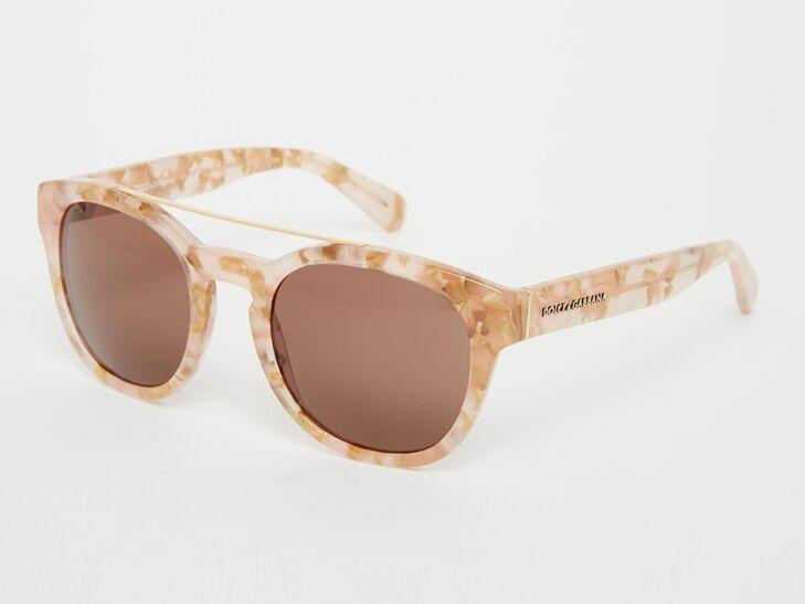 Dolce & Gabbana Mirror Round Sunglasses
