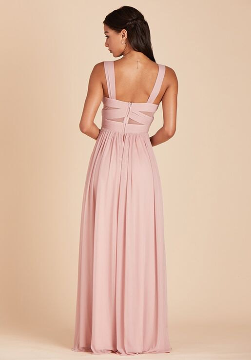 Birdy Grey Elsye Mesh Dress in Rose Quartz Sweetheart Bridesmaid Dress