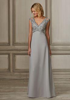 Adrianna Papell Platinum 40159 V-Neck Bridesmaid Dress