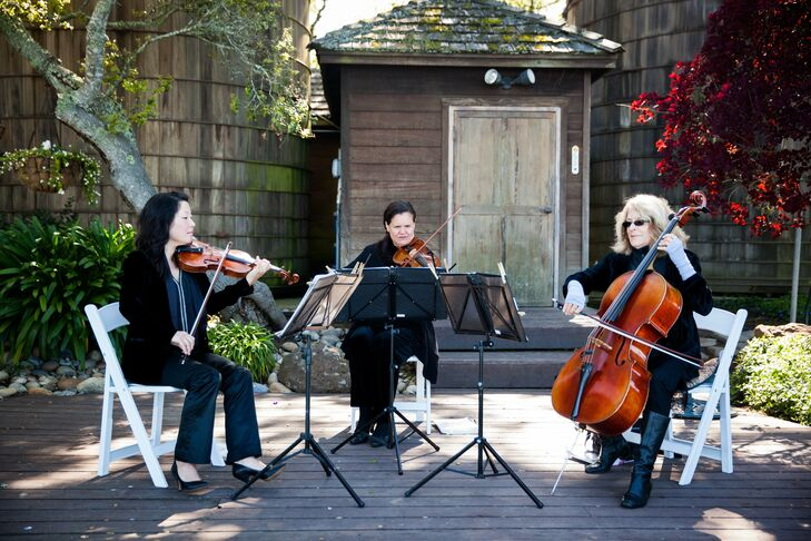 A string trio performed the ceremony music.