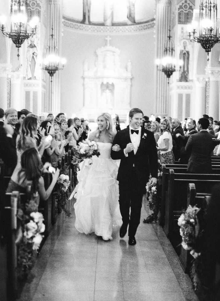 Katie and James opted for a traditional ceremony at the St. Monica Catholic Church.