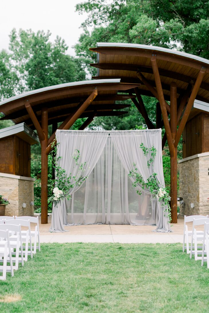 Airy Outdoor Ceremony at Green Bay Botanical Garden