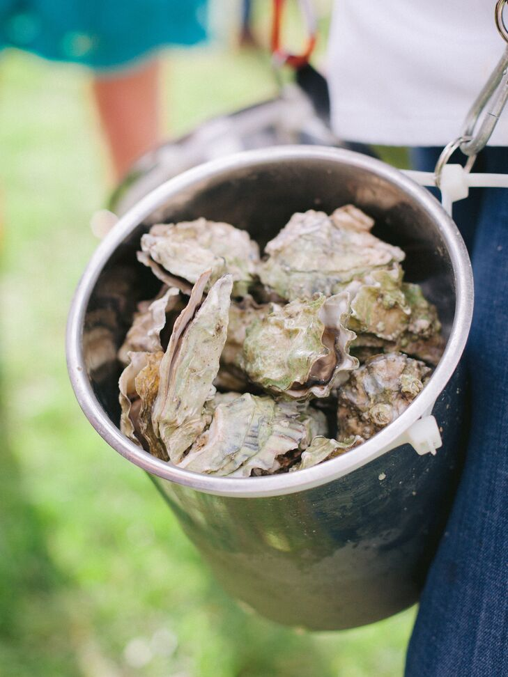 Oysters in Bucket at Casual Cocktail Hour