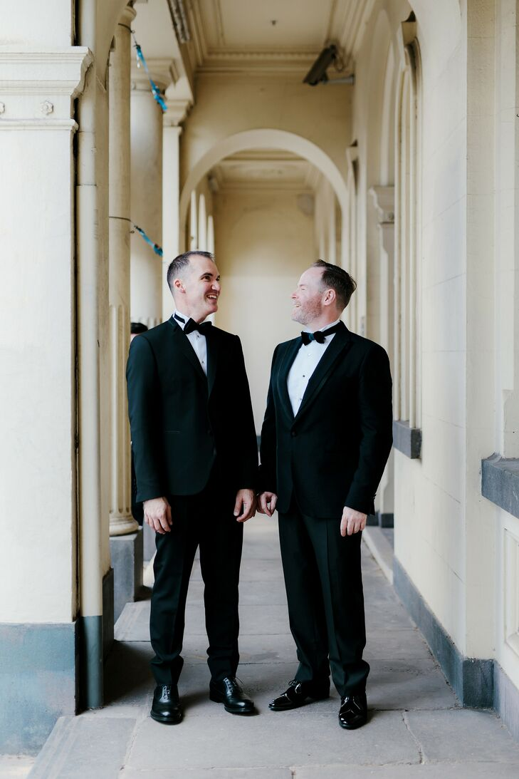 Same-Sex Grooms in Tuxedos at Wedding in Australia