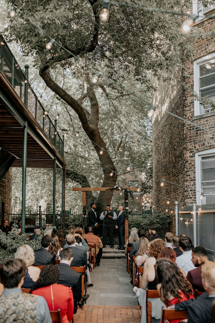 Industrial Outdoor Wedding at Firehouse Chicago