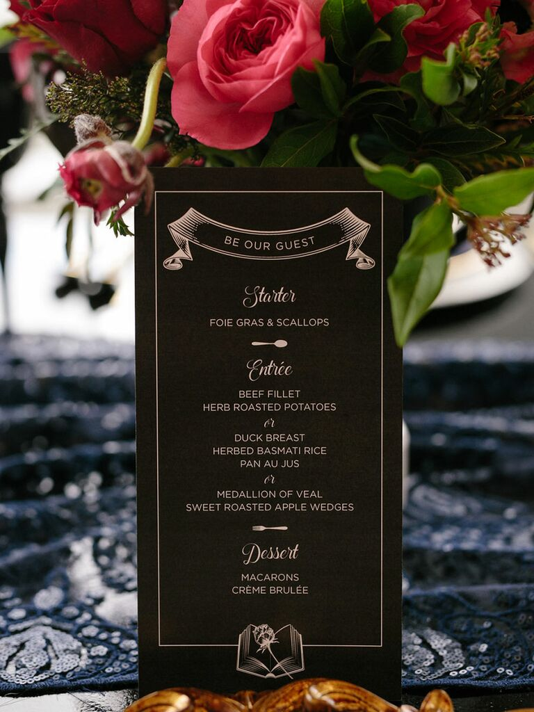 Beauty and the Beast wedding reception ideas