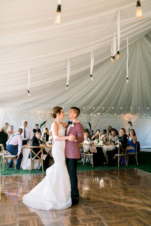 Classic First Dance in Tented Reception Space