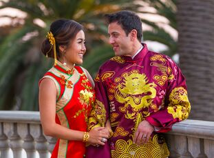 To honor their three cultures—Chinese, Persian and American—Kristy Gao (25 and a business professional) and Alireza Fard (34 and a physician) held a t