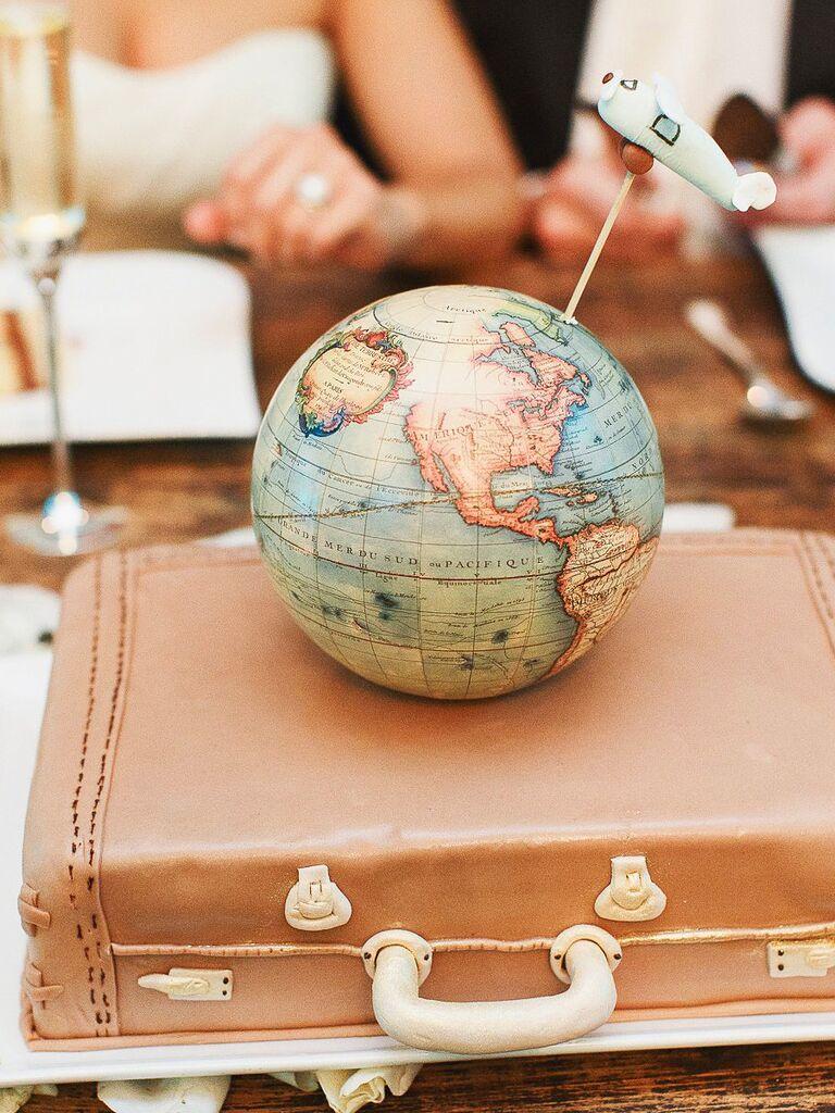 World traveler groom's cake idea