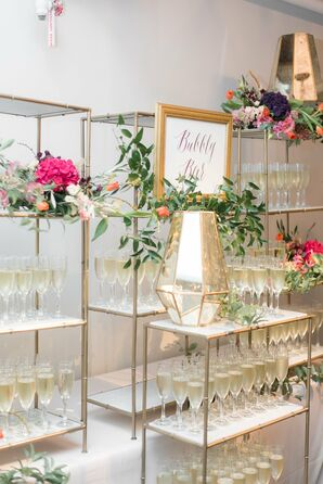 Modern Gold and Marble Champagne Display