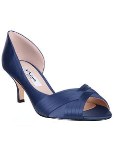 Nina Bridal Contesa_New Navy-Satin Black, Blue, Gold, Green, Ivory, Pink, Red, Silver, Yellow Shoe