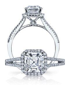 MARS Fine Jewelry Elegant Asscher Cut Engagement Ring