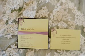 Yellow Invitations with Grapevine Design