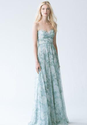 Jenny Yoo Collection (Maids) Adeline Print #1781P Sweetheart Bridesmaid Dress
