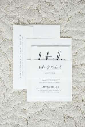 Simple Invitations for Florida Wedding at Bella Collina