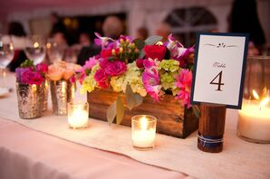 Wood Table Number Holders
