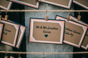 DIY Kraft-Paper Escort Cards