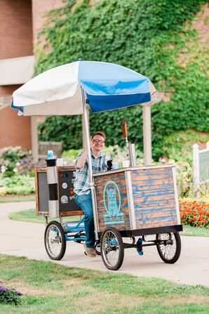 Mobile Coffee Cart at Reception