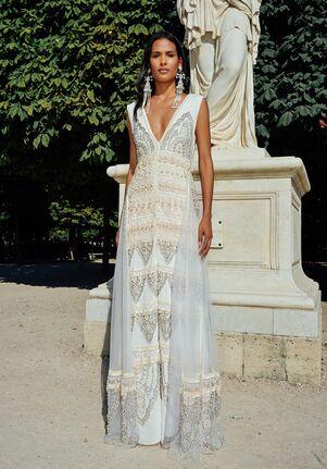 CUCCULELLI SHAHEEN Pearl Paisley Dress and Skirt Sheath Wedding Dress