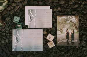 Modern Invitations and Save-The-Dates and Personalized Ring Boxes