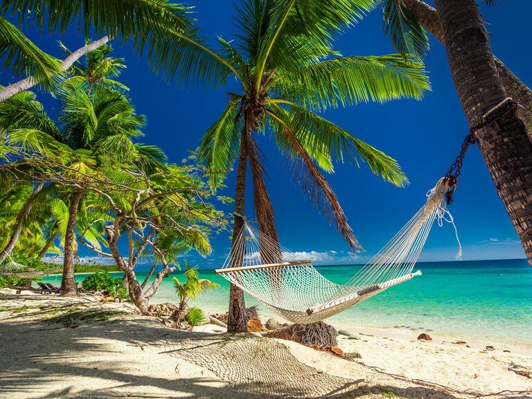 Tahiti beach honeymoon