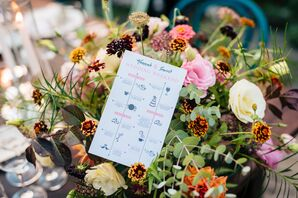 Playful Infographic Wedding Weekend Schedule