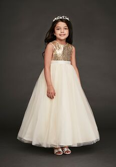 David's Bridal Flower Girl David's Bridal Style WG1390 Gold Flower Girl Dress