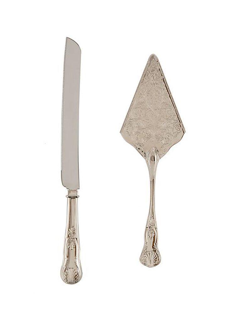 Vintage wedding cake knife and server
