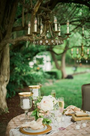 Whimsical Outdoor Reception Table