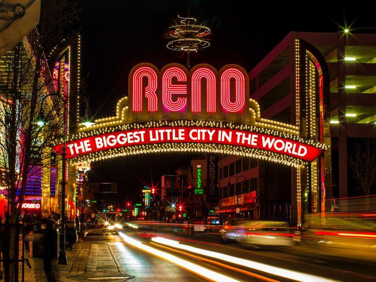 Sign for Reno, Nevada