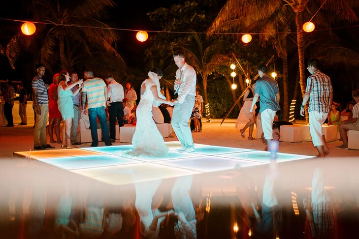 Light Up Dance Floor Beach Reception