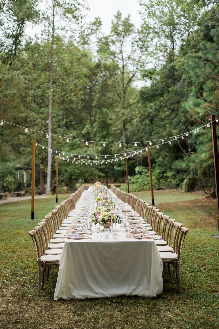 Long Reception Table at Cator Woolford Gardens in Atlanta